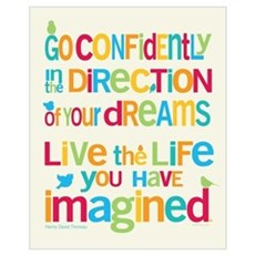 Go Confidently Framed Print