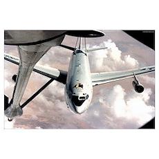 E3 AWACS Air Refueling Poster