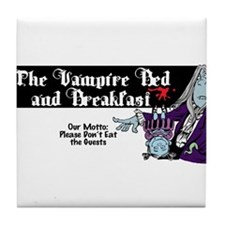 The Vampire Bed and Breakfast Tile Coaster