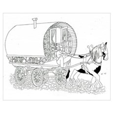 Gypsy Wagon Color Your Own Poster