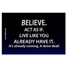 Law of Attraction Believe Poster