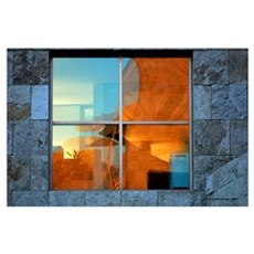 Abstract in a Window Poster