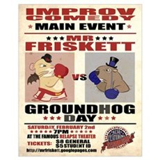 Mr. Friskett vs Groundhog Day Framed Print