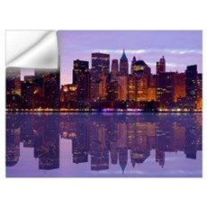 Manhattan Cityscape Reflectio Wall Decal