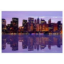 Manhattan Cityscape Reflectio