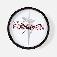 Not Perfect... Forgiven Wall Clock
