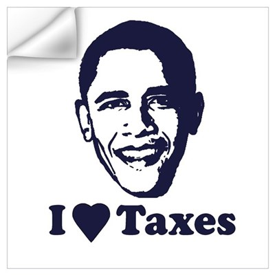 I Love Taxes Wall Decal