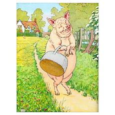 Market Piggy Poster