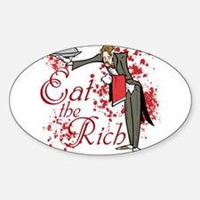 Eat the Rich Sticker (Oval)