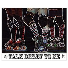 Talk Derby Neon Canvas Art