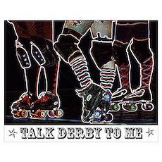 Talk Derby Neon Poster