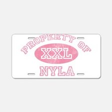 Property of Nyla Aluminum License Plate