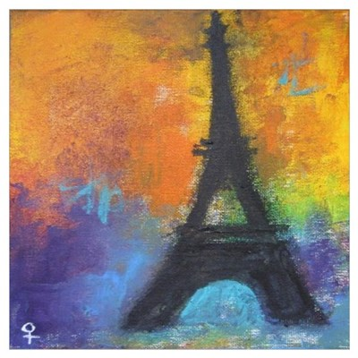 Abstract Eiffel Tower Poster