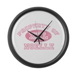 Property of Noelle Large Wall Clock