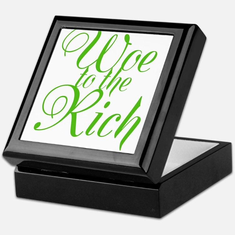 Woe to the Rich Keepsake Box