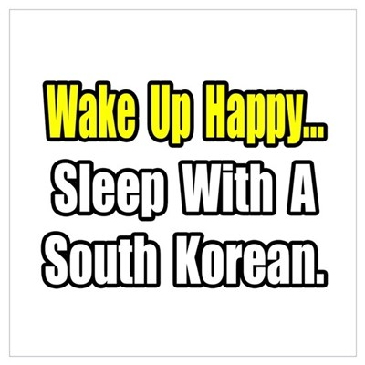 """Sleep w/ a South Korean"" Canvas Art"