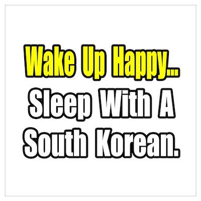 """Sleep w/ a South Korean"" Poster"