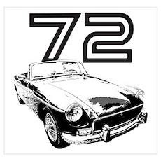 1972 MG Midget Poster