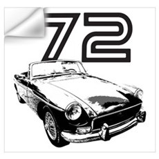 1972 MG Midget Wall Decal