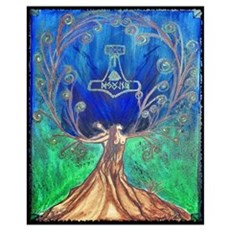 With In the Tree of Life Framed Print