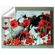 Audrey in Poppies Wall Decal