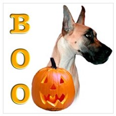 Halloween Great Dane Boo #2 Poster