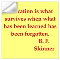 b f skinner quotes Wall Decal