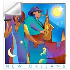New Orleans French Quarter Wall Decal