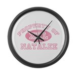 Property of Natalee Large Wall Clock