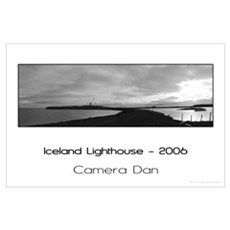 Iceland Lighthouse Poster