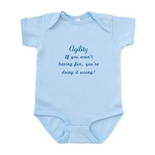 Dog Agility Fun v2 Infant Bodysuit