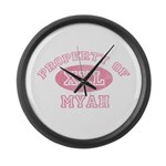 Property of Myah Large Wall Clock