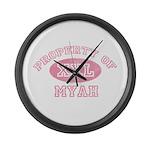 Property of Myah Large Wall Clock