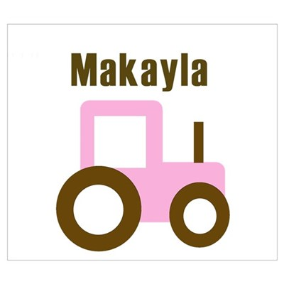 Makayla - Pink Tractor Framed Print