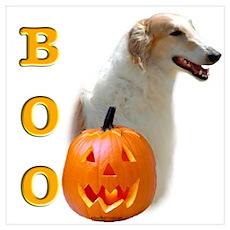 Halloween Borzoi Boo Poster