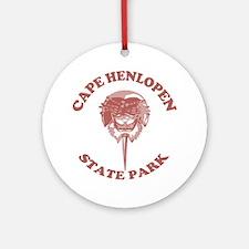 Cape Henlopen DE - Horseshoe Design Ornament (Roun