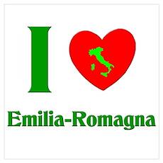 I Love Emilia-Romagna Italy Poster