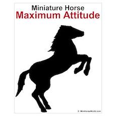 Miniature Horse Maximum Attitude Poster