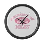 Property of Miley Large Wall Clock