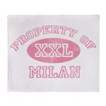 Property of Milan Throw Blanket