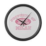 Property of Milan Large Wall Clock