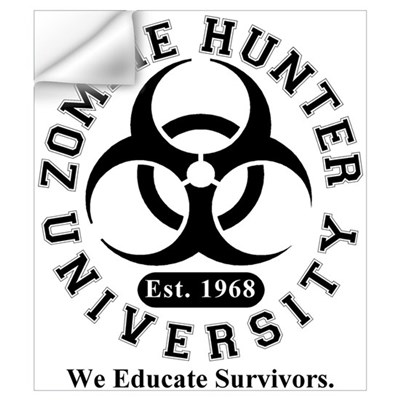 A Zombie Hunter University Wall Decal
