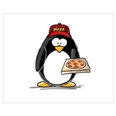 Pizza Penguin Framed Print