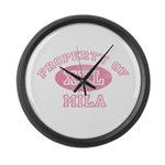 Property of Mila Large Wall Clock