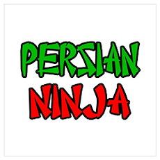 """""""Persian Ninja"""" Poster"""