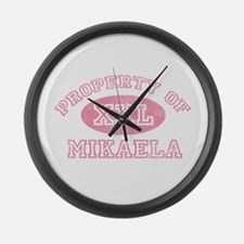 Property of Mikaela Large Wall Clock
