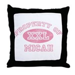 Property of Micah Throw Pillow