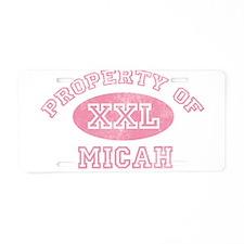 Property of Micah Aluminum License Plate