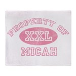 Property of Micah Throw Blanket