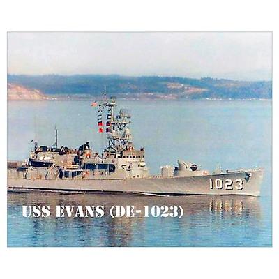 USS EVANS Poster